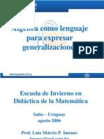 Álgebra Escolar- MARCIO IMÉNES