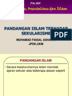 4- Pandangan Islam Terhadap Sekularisme