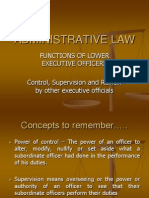 Philippine Administrative Powers of Lower Executive Officers