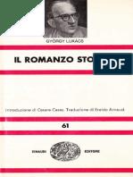 Gyorgy Lukacs -Il Romanzo Storico