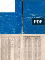 Selected Pages From Nautical Almanac 1992