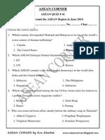 Asean Quiz 41