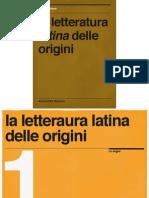 La Letteratura Latina Delle Origini