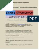 Recettes à Base de Champignons compilées par Carlos Mirasierras