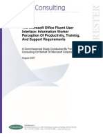 2007 Microsoft Office Fluent UI Study Information Workers - Forrester