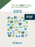 BusinessasUNusual2013 (Net Impact .Org)