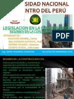 Regimen en La Construccion Civil - 2014
