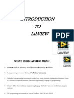 Basics of Labview