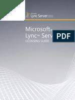Lync Server 2010 Licensing Reference Guide