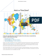 General Information on Time Zones