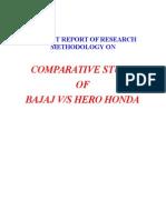 BBA Bajaj vs Hero Honda Project Report