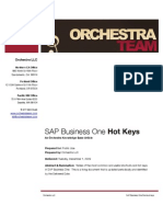 SAP Business One Shortcut Keys and Hotkeys by Orchestra Team
