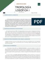 Guía (Antropología Filosófica I)