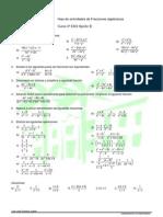 Fracciones algebraicas  Curso 4º ESO  Opción B