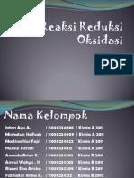 Reaksi Reduksi Oksidasi Fix