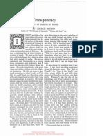 Transperancy - A Way of Looking at People