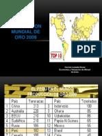 PRODUCCION MUNDIAL DE ORO 2009.pptx