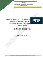 Procedimiento de  Inspecci+¦n y Ensayo con Part+¡culas Magan+®ticas Rev00