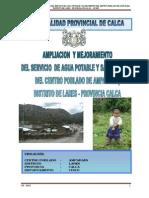 Ampliacion y Mejoramiento Del Servicio de Agua Potable y Saneamiento Del Centro Poblado de Amparaes,