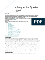 Ips and Techniques for Queries in Access 2007