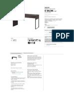 MICKE Escritorio - Negro-marrón - IKEA