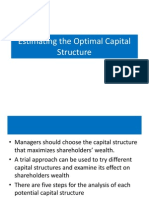 Estimating the Optimal Capital Structure