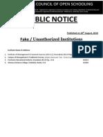 ~_Notice_FAKE LIST OF INSTITUTE OF AICOS