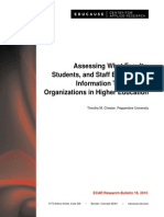 Assessing What Faculty, Students, And Staff Expect From Information Technology Organizations in Higher Education