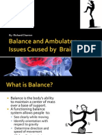 balance and ambulatory  issues caused by  brain injuries in-service project