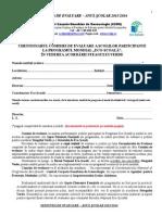 Chestionar de Evaluare - Comisia