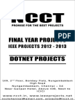 2012 Dot Net Project Titles for Colleges (Printout)