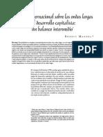 Debate Internacional Sobre Las Ondas Largas, Balance Intermedio (H Mandel)