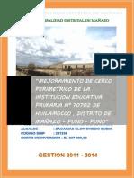 CERCO PERIMETRICO HULAMOCCO