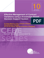 Effective Management of Contract Variation
