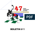 47 Torneo Internacional Capablanca in Memoriam Boletin 1 Grupo Elite