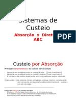 aaaaaaaaaaa Sistemas de Custeio