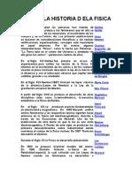 Historia de La Fisica y Fisicos