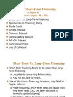 Short-Term Financing