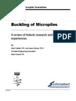 Buckling of Micropiles