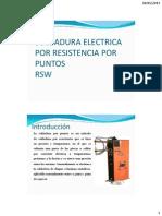 Soldadura Electrica Por Resistencia Por Puntos