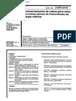 NBR 8449 - Dimensionamento de Cabos Para-raios Para Linhas Aereas de Transmissao de Energia Eletrica