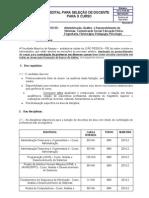Edital - Seleção Docentes 2014.2