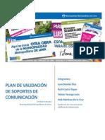 Plan de Validacion de Materiales - Municipalidad de Lima