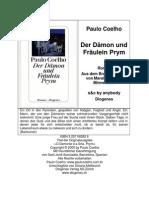 Deutsch - Der Damon Und Fraulein Prym - Paulo Coelho