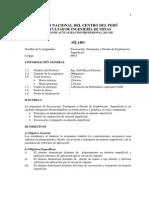 Silabo-Excavación, Transporte y Diseño de Explotación Superficial 2011-III