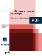 Public Procurement in Europe - Cost and Effectiveness