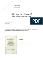 Who were the idéologues? How influential were they?