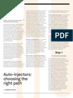 Auto-Injectors Choosing the Right Path AGP i2