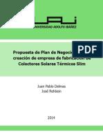 Memoria Slim Solar Collectors, Delmas, Rehbein