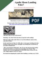 Was the Apollo Moon Landing Fake